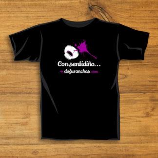 Camiseta negra deFuranchos con sentidiño